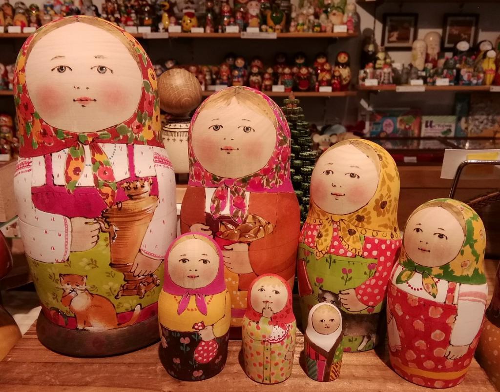 Matryoshka doll Maria domitoriewa Mark 7 type (18cm) A lot of 81,000 yen matryoshka dolls!  ... GINZA HAKKO smell of fresh timbe ...