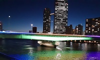 Tsukuda-ohashi Bridge light-up