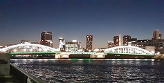 Kachidoki Bridge light-up Tsukuda-ohashi Bridge light-up