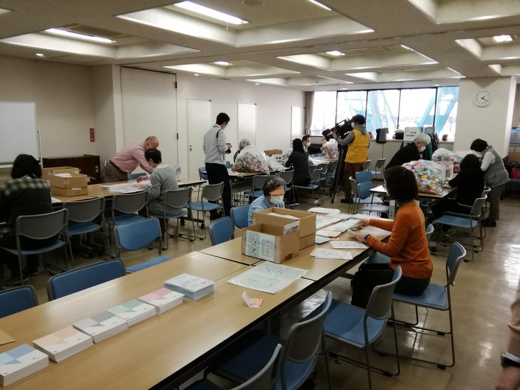在2月28日,去了新富的袋子最终阶段会场,到纸折仙鹤波袋最终阶段会场进行了  - 中央区款待项目-