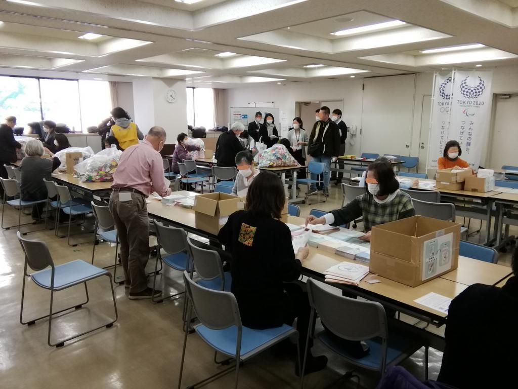 去了纸折仙鹤波袋最终阶段会场  - 中央区款待项目-