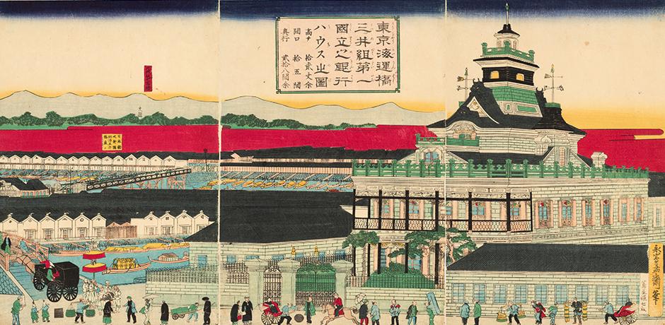 """Town which """"Kabuto-cho walk"""" - Eiichi Shibusawa made"""
