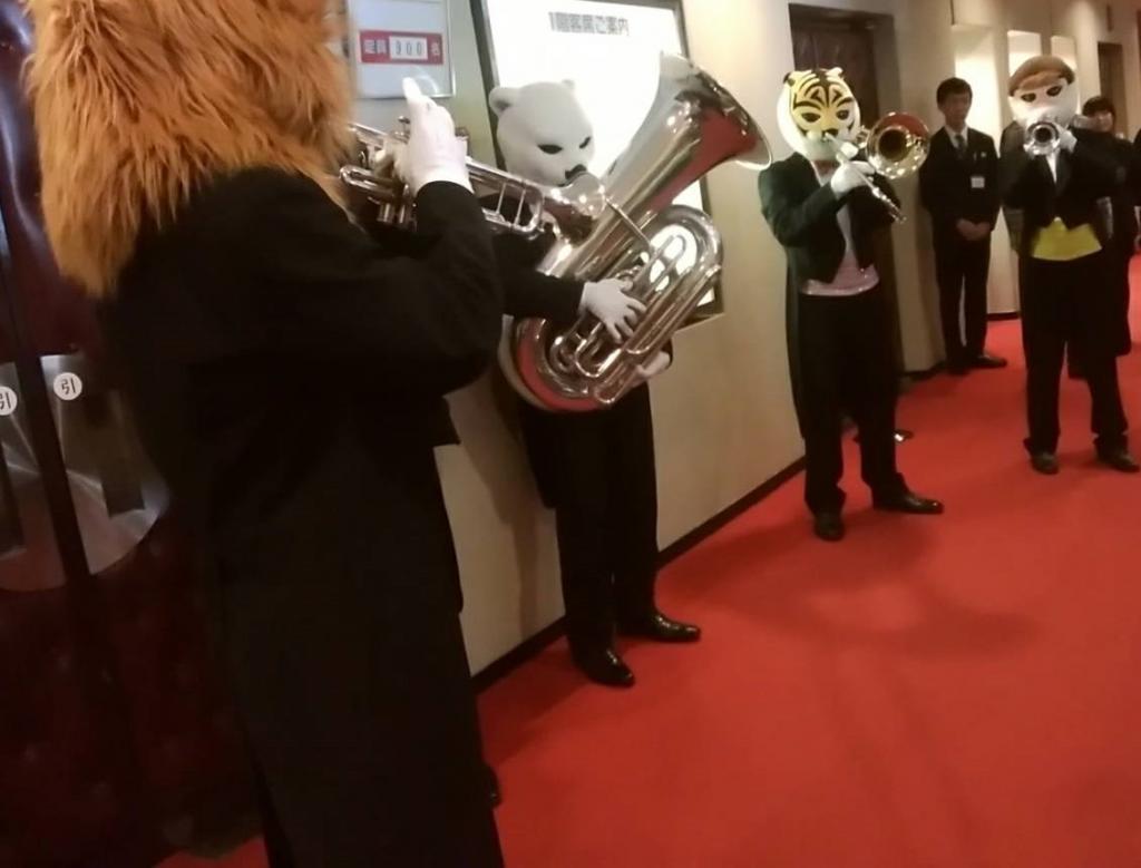 """在开场时刻.13时候,铜管乐短曲! 这次也快乐的zurashiamburasu的""""音乐的连环画""""@银座Blossom中央会馆"""