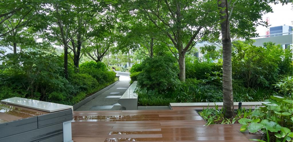 GINZA SIX的魅力(3)建築物裡在胡同,東西方、南北穿過的過道