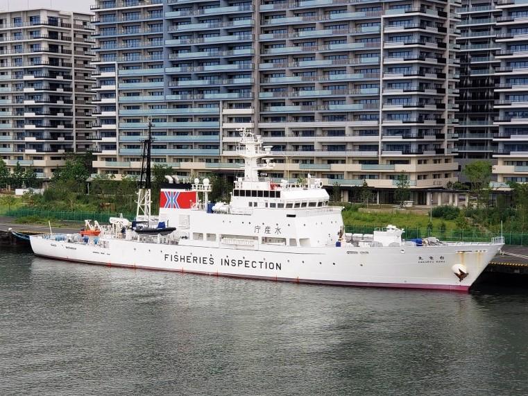 The Pairon-maru white dragon-maru Hakuho-maru was anchoring in Harumi Wharf.
