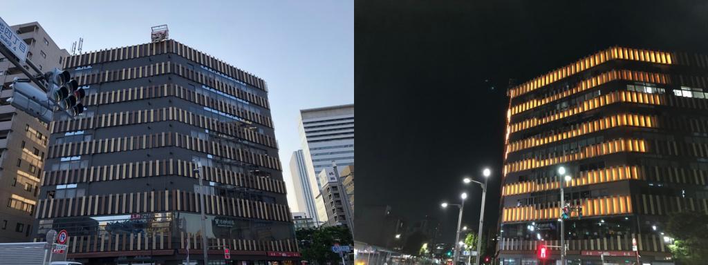 (2) 築地KY大樓竣工:被在1988年7月巡遊沿晴海路的角落研吾先生的作品