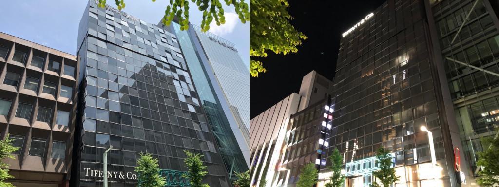 而且銀座2丁目的蒂芙尼銀座總店竣工:被在1987年10月巡遊沿晴海路的角落研吾先生的作品