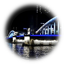 Light-up lighting start of Sumida River bridge group