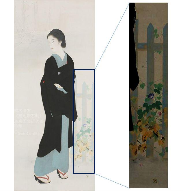 << Tsukiji Akashicho >> showcase at National Museum of Modern Art, Tokyo (we hold until ... 2019.12.15 day) of masterpiece << Tsukiji Akashicho >> Kiyokata Kaburaki _ illusion