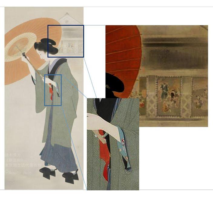 << Tsukiji Akashicho >> showcase at National Museum of Modern Art, Tokyo (we hold until ... 2019.12.15 day) of Kiyokata Kaburaki product << Shintomi-cho >> Kiyokata Kaburaki _ illusion