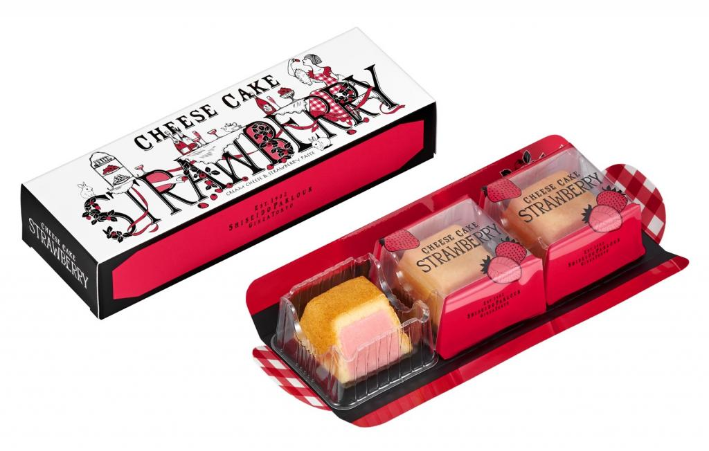 Hand baking cheesecake (strawberry) in cheesecake (strawberry), winter of seasonally limited product winter of 1,836 yen (tax-included) common usage with 918 yen (tax-included) six with winter cheesecake (strawberry) three  ... Shiseido Parlor ...