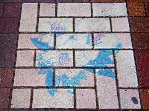 The sidewalk of Chuo-ku is interesting! 30 [the sidewalk edition which is Marchen]